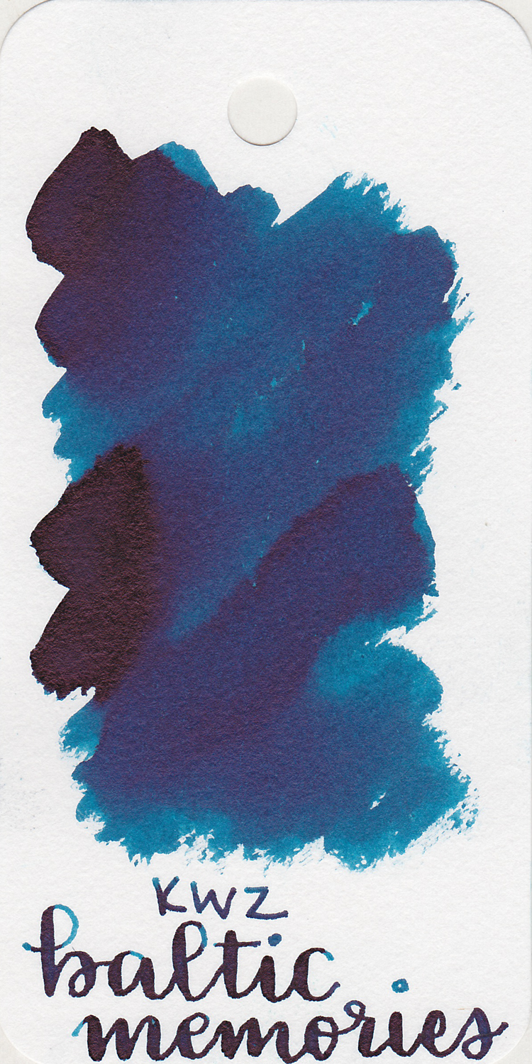 The color: - Baltic Memories is a dark blue with black sheen.