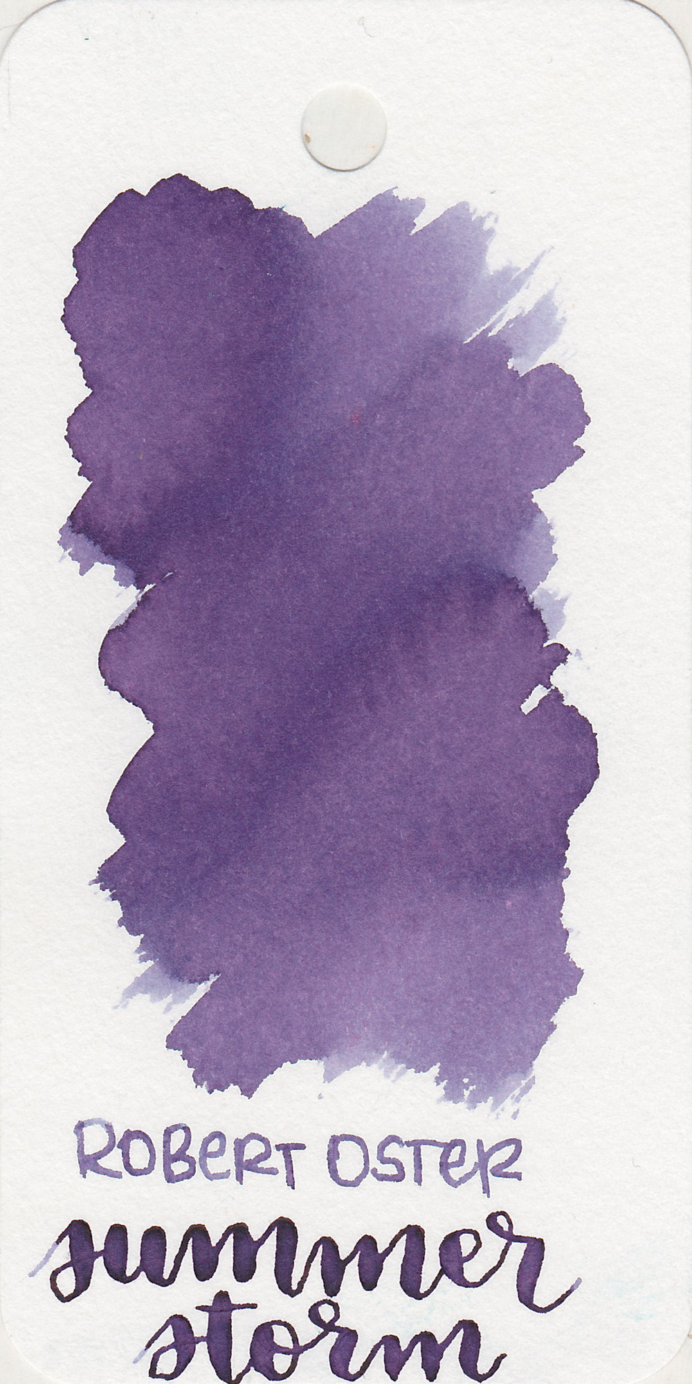 The color: - Summer Storm is an interesting color. When wet it looks like a dull grey, and after it dries it becomes a bit more blue. After about ten minutes it becomes purple. I think the name is a perfect fit for this ink-grey to blue to purple, just like the sky during a summer storm.