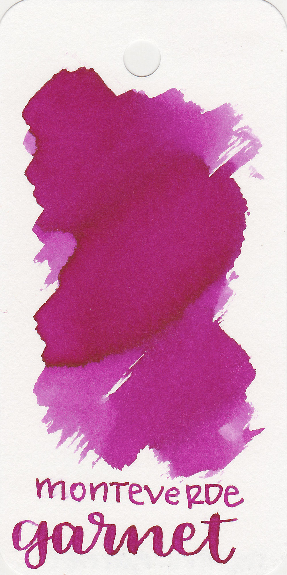 The color: - Garnet is a bright magenta.