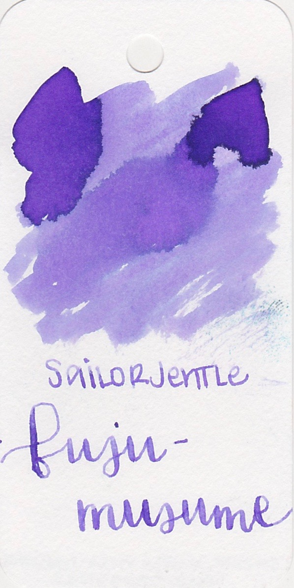 Sailor Jentle Fuji-musume - This is a very pale lilac purple, but like most Sailor inks it has a great flow.