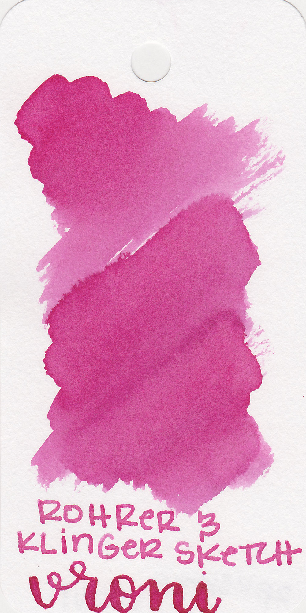 The color: - Vroni is a medium pink with shading.