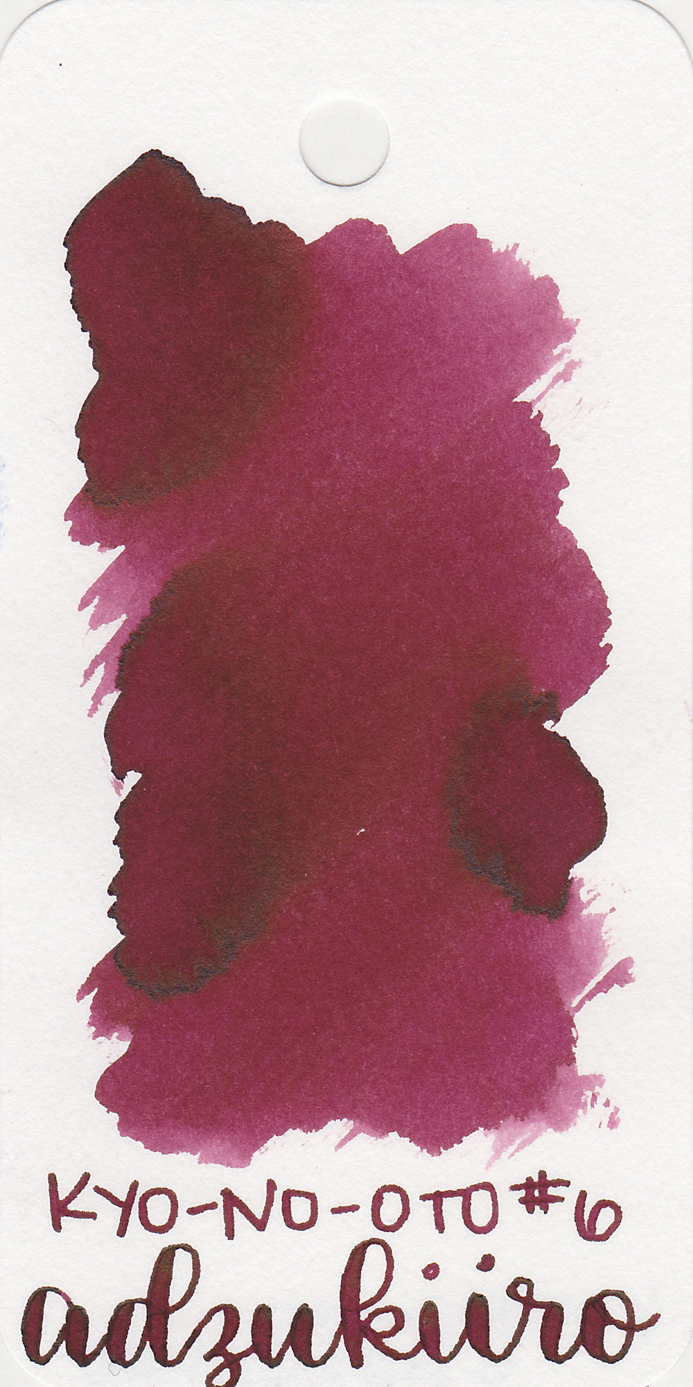 The color: - Adzukiiro is a dark wine red.