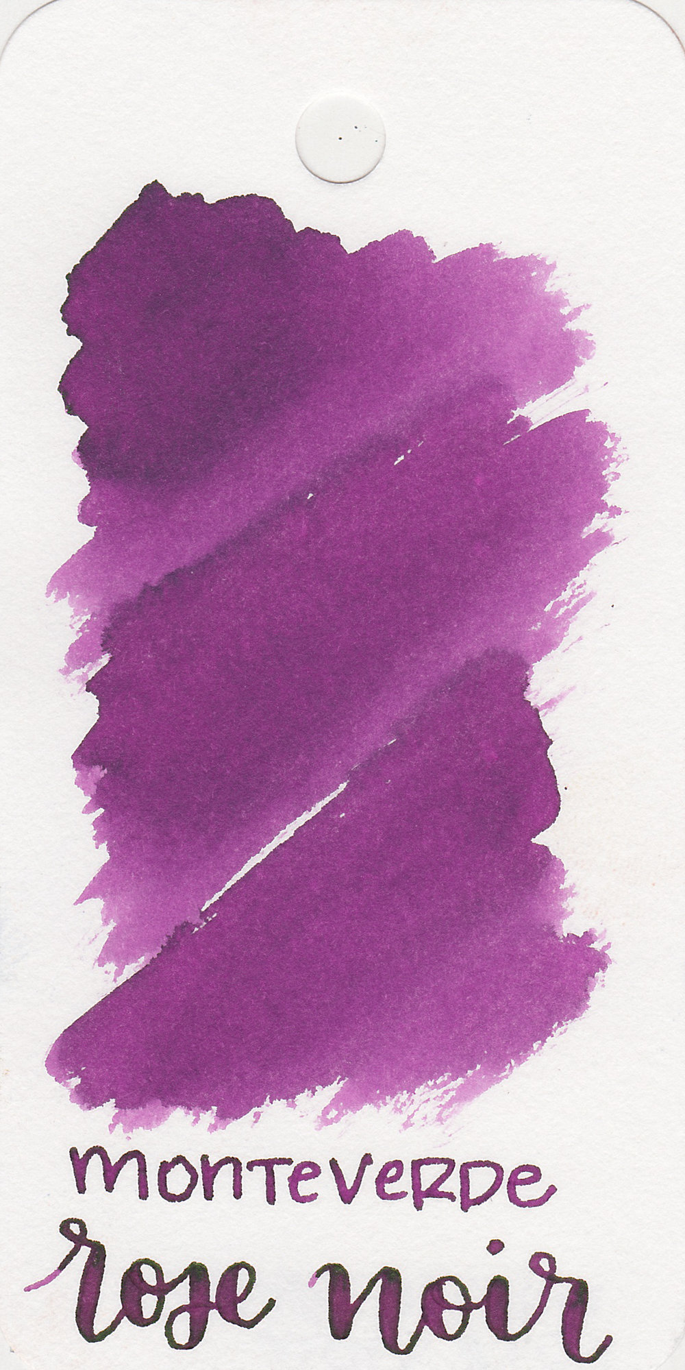 The color: - Rose Noir is a medium purple with a red tone to it.