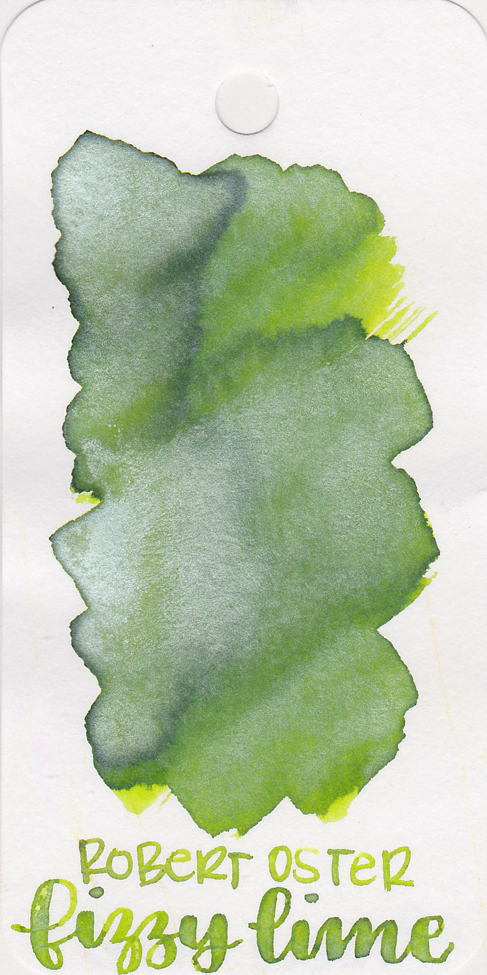 The color: - Fizzy Lime is a medium green with lots of shimmer. This ink really looks like the different shades of a lime.