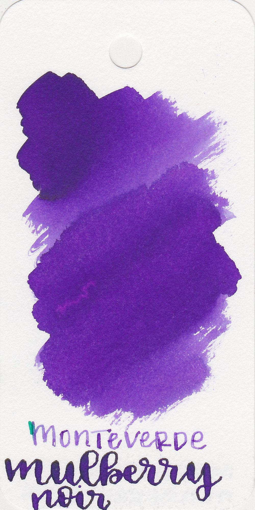 The color: - Mulberry Noir is a medium purple.