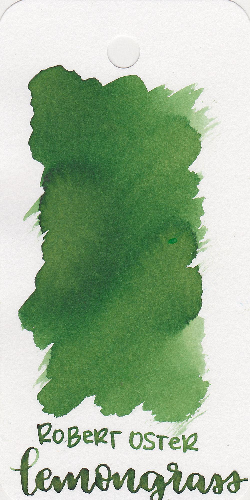 The color: - Lemon Grass is a medium-dark green.