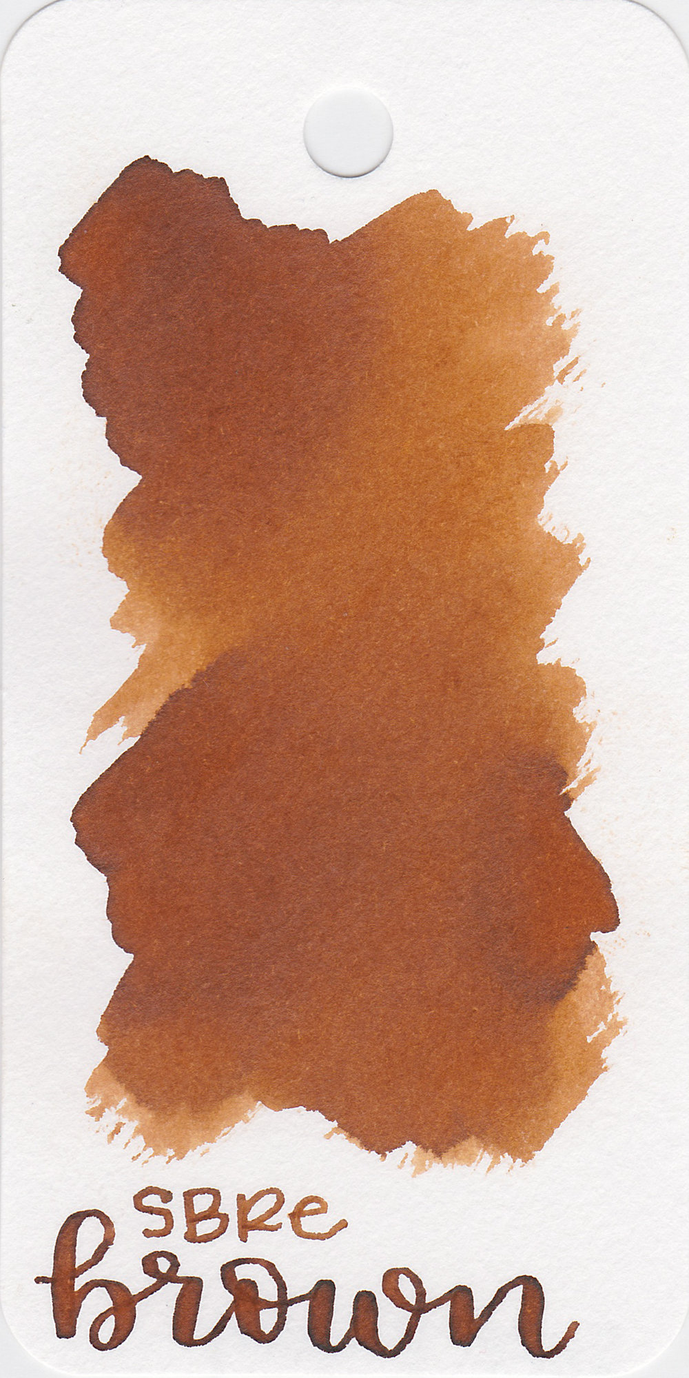 The color: - SBRE Brown is a medium brown with some shading.