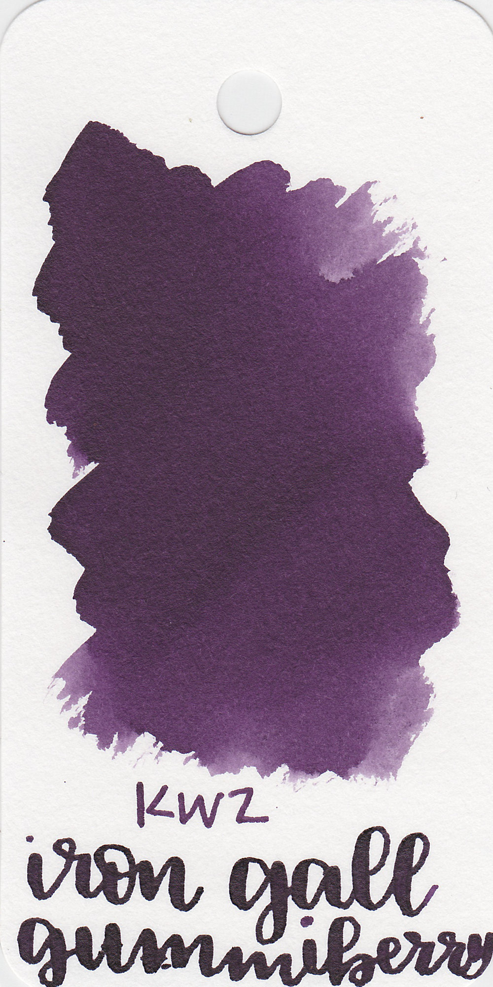 The color: - Iron Gall Gummiberry is a dark, saturated purple.