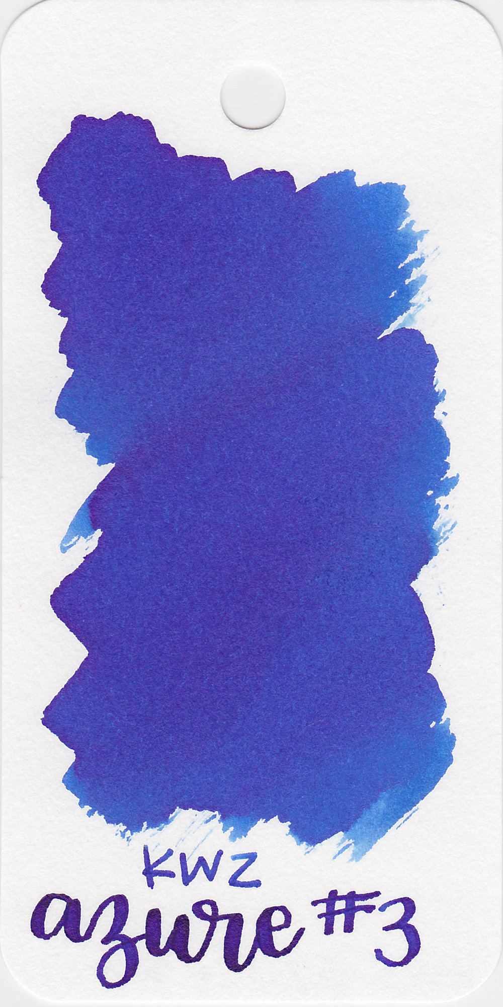 The color: - Azure #3 is a pretty blue.