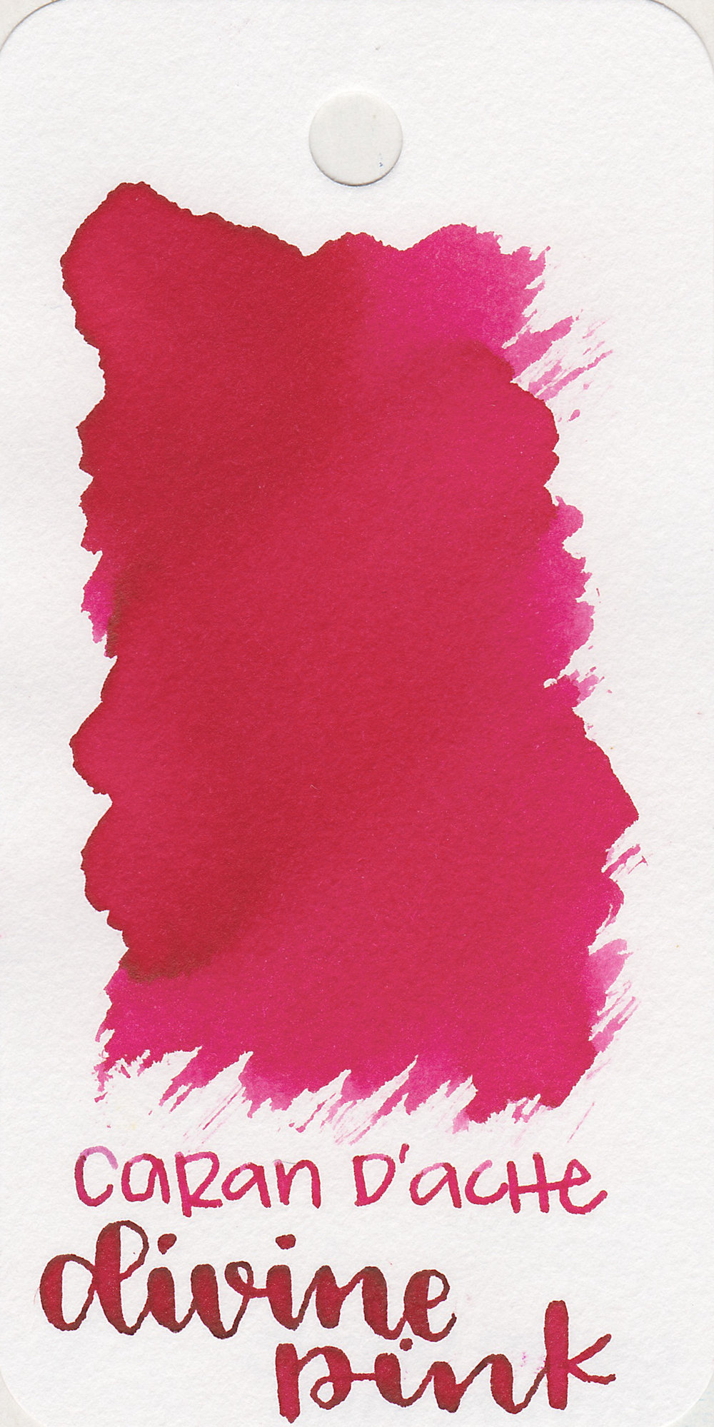 The color: - Divine Pink is a dark pink.