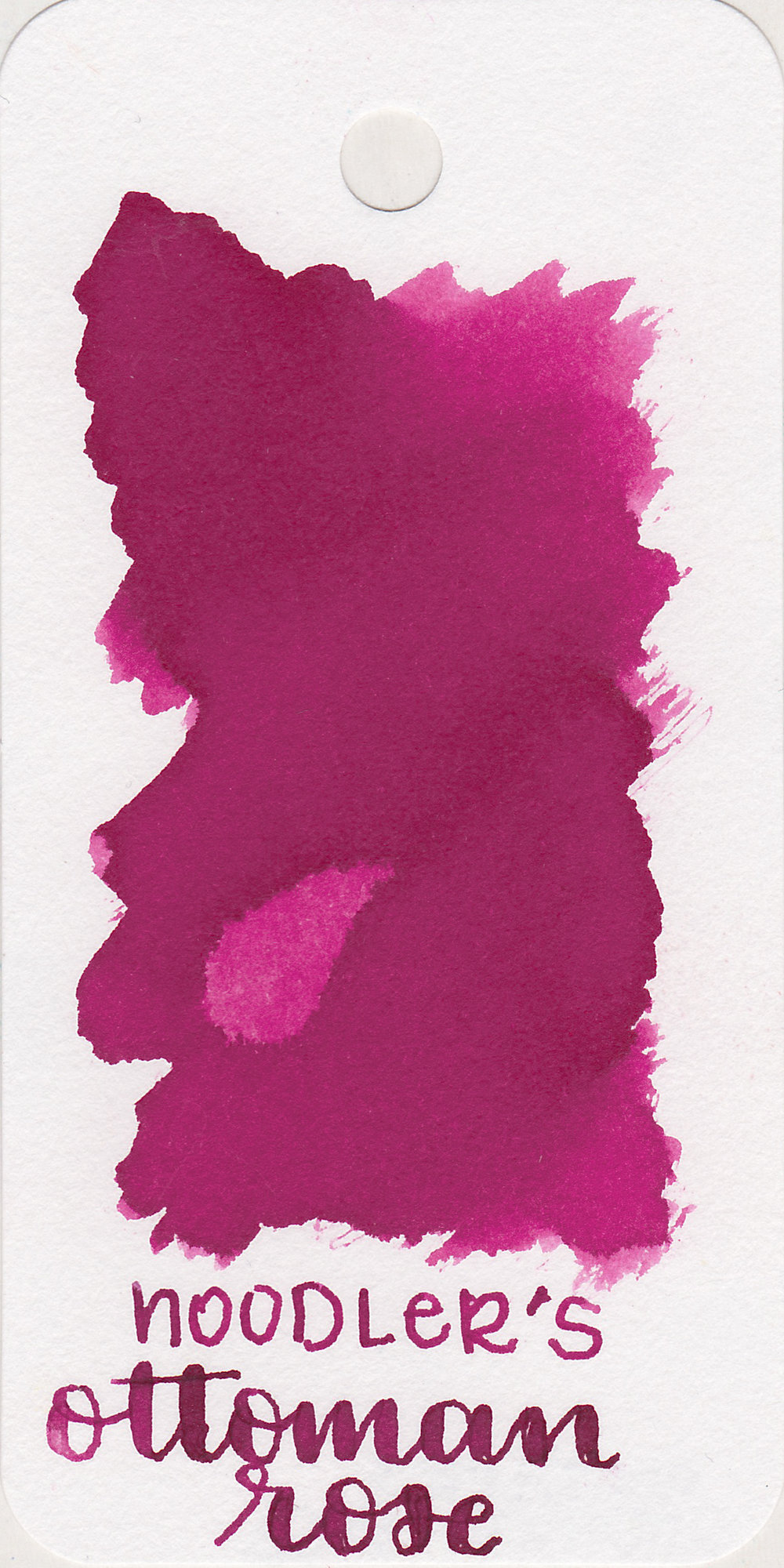 The color: - Ottoman Rose is a deep magenta pink.
