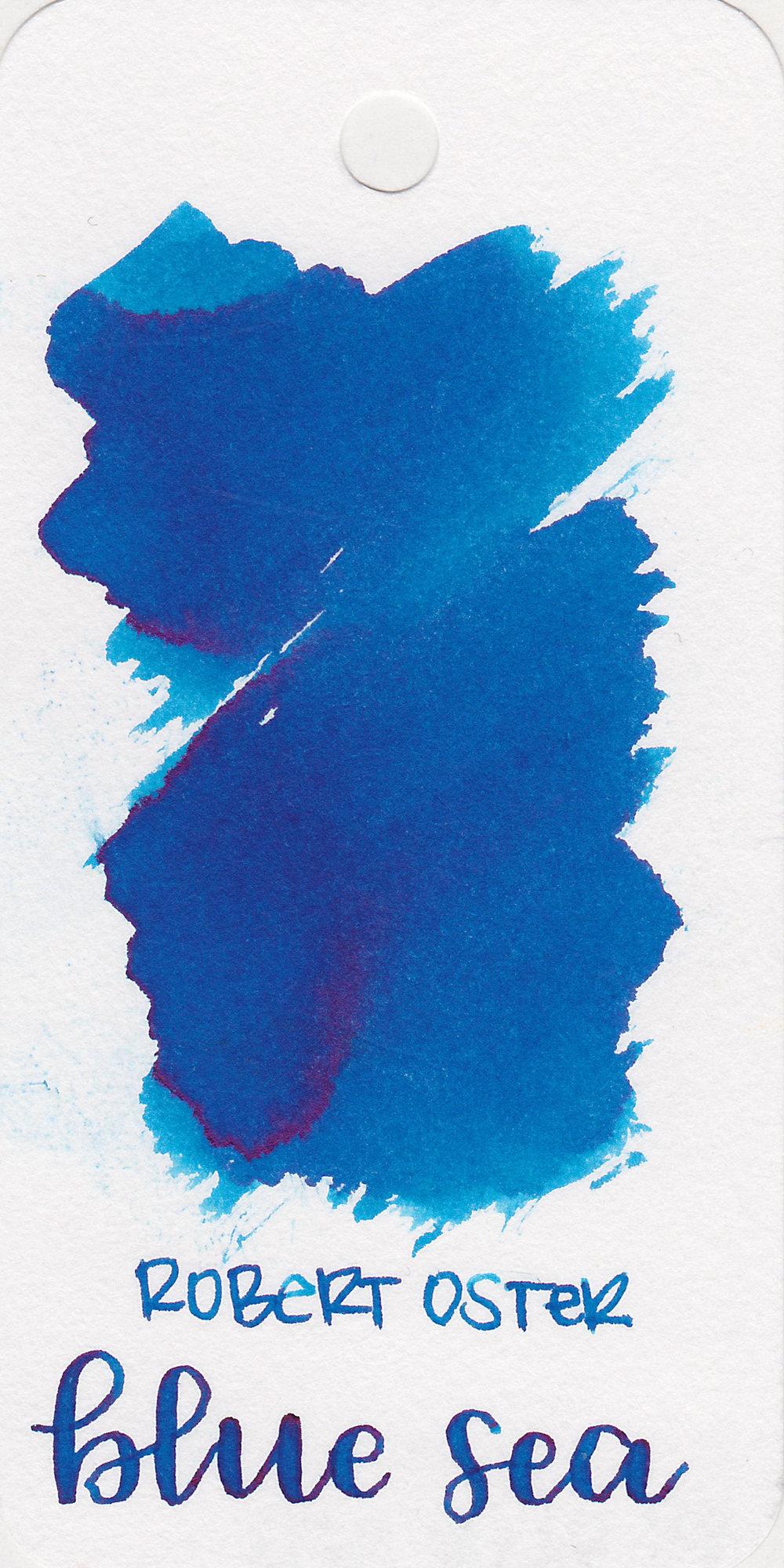 The color: - Blue Sea is a beautiful medium blue.