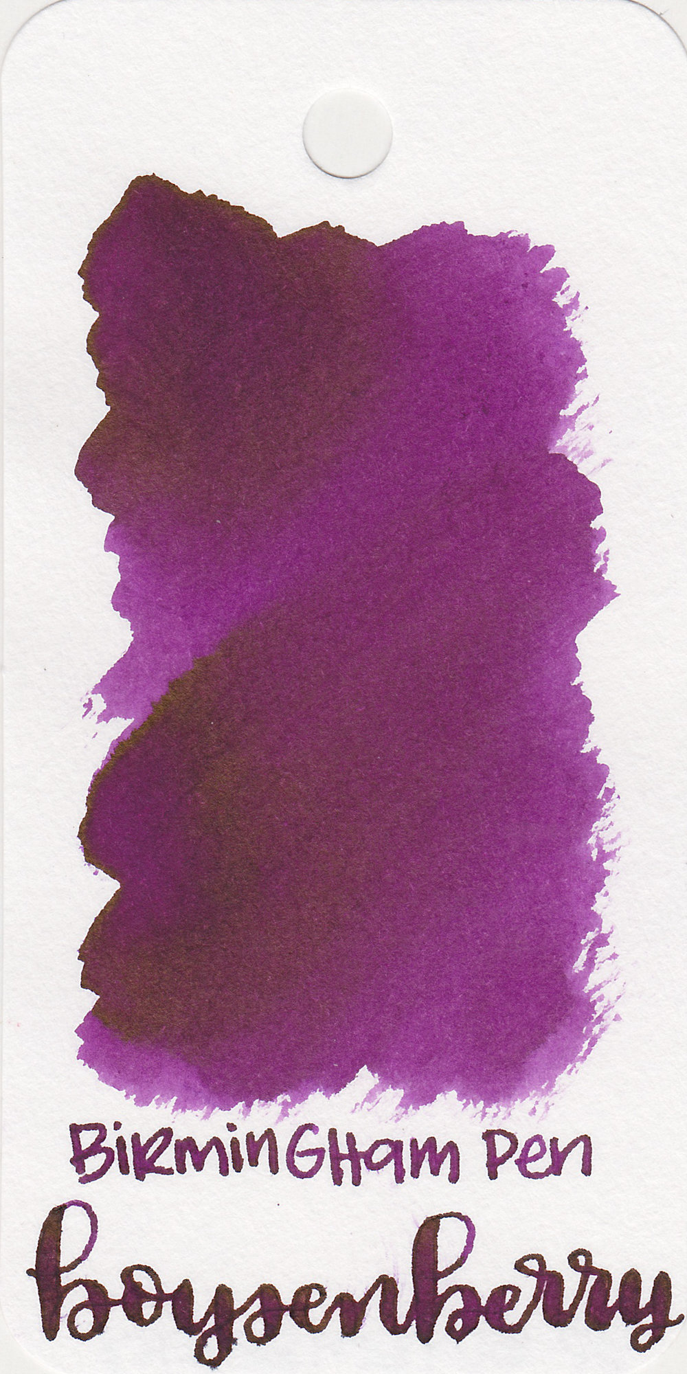 The color: - Boysenberry is a medium purple with a red undertone.