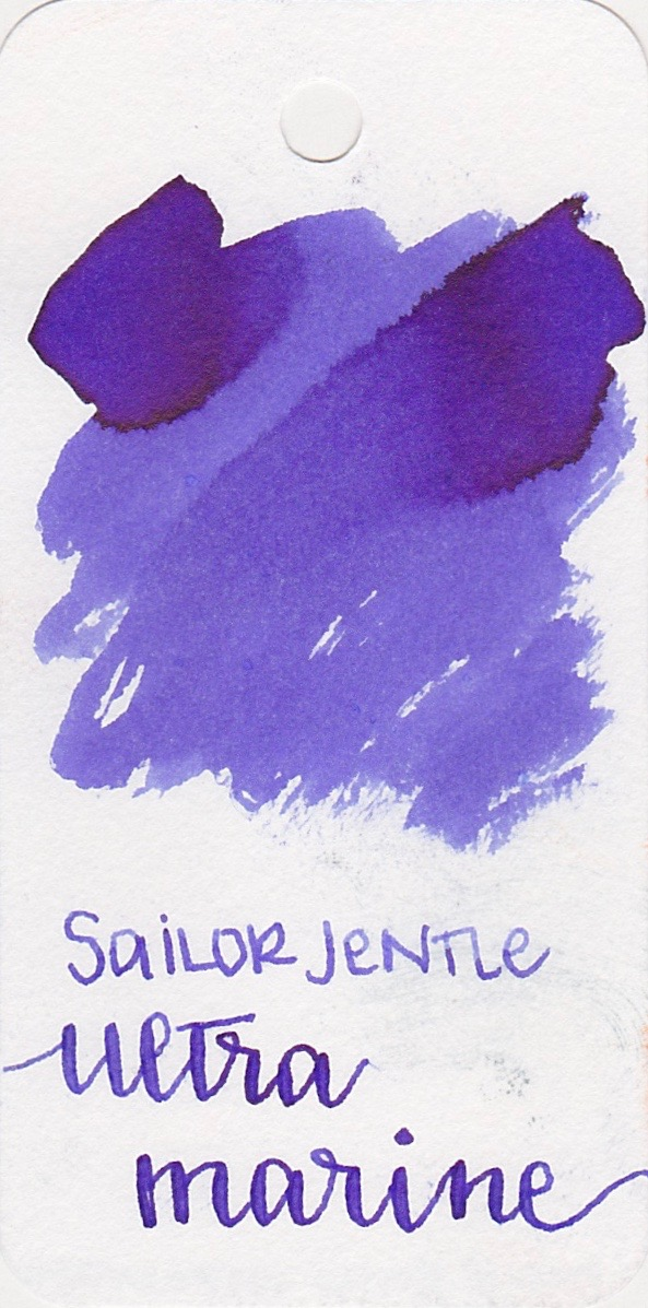 Sailor Jentle Ultra Marine - Sailor inks have the best smooth flow.