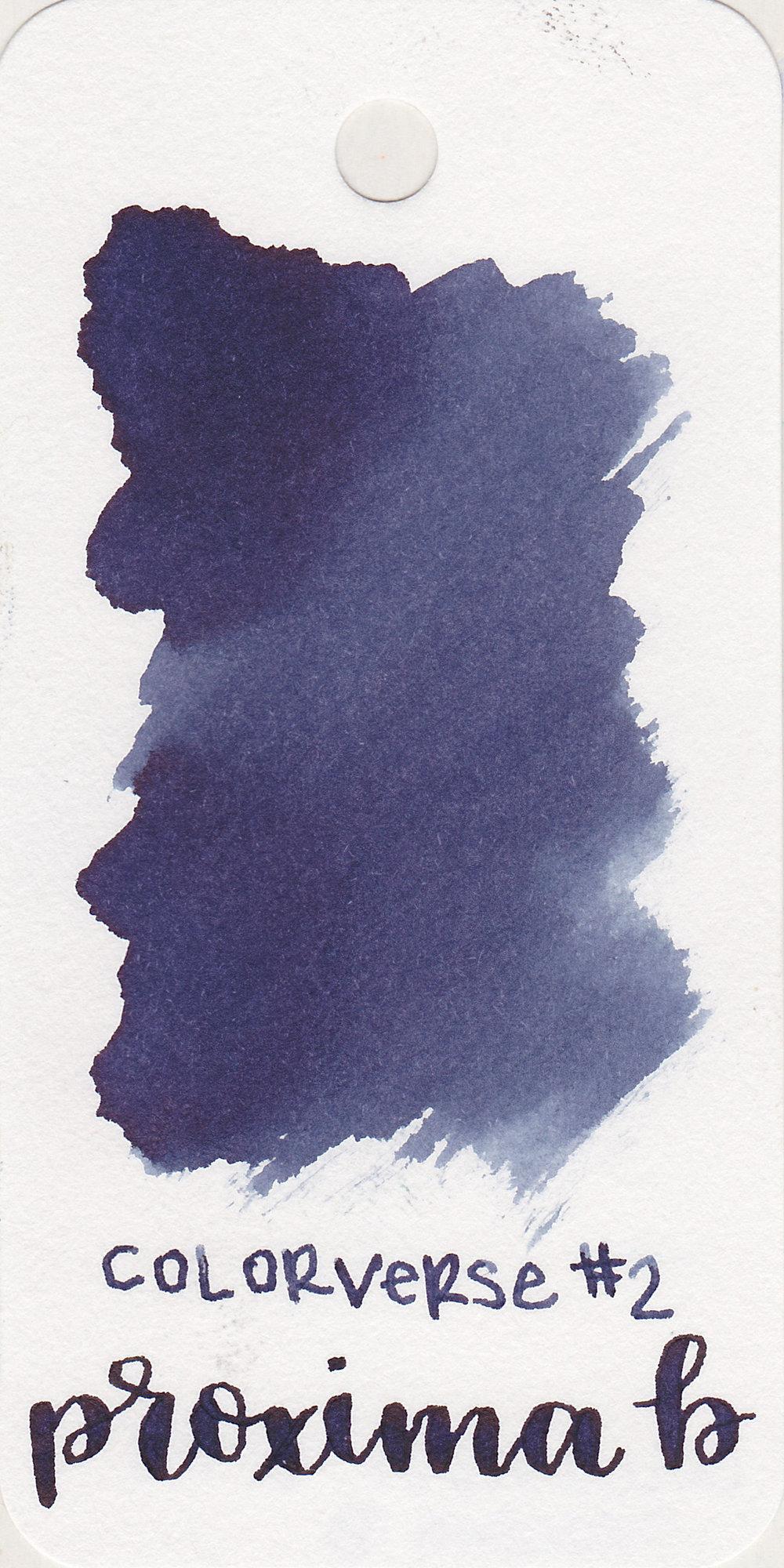 The color: - Proxima B is a pretty dark blue.