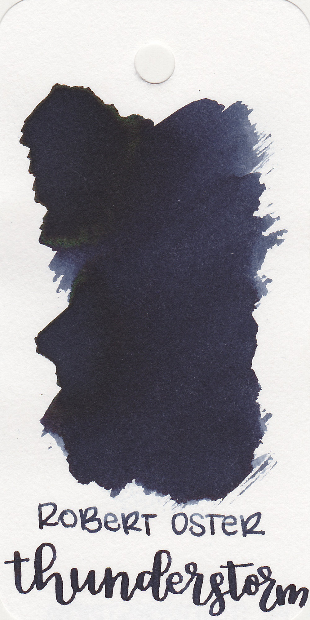 The color: - Thunderstorm is a beautiful dark blue black. It is the color of the sky during a thunderstorm.