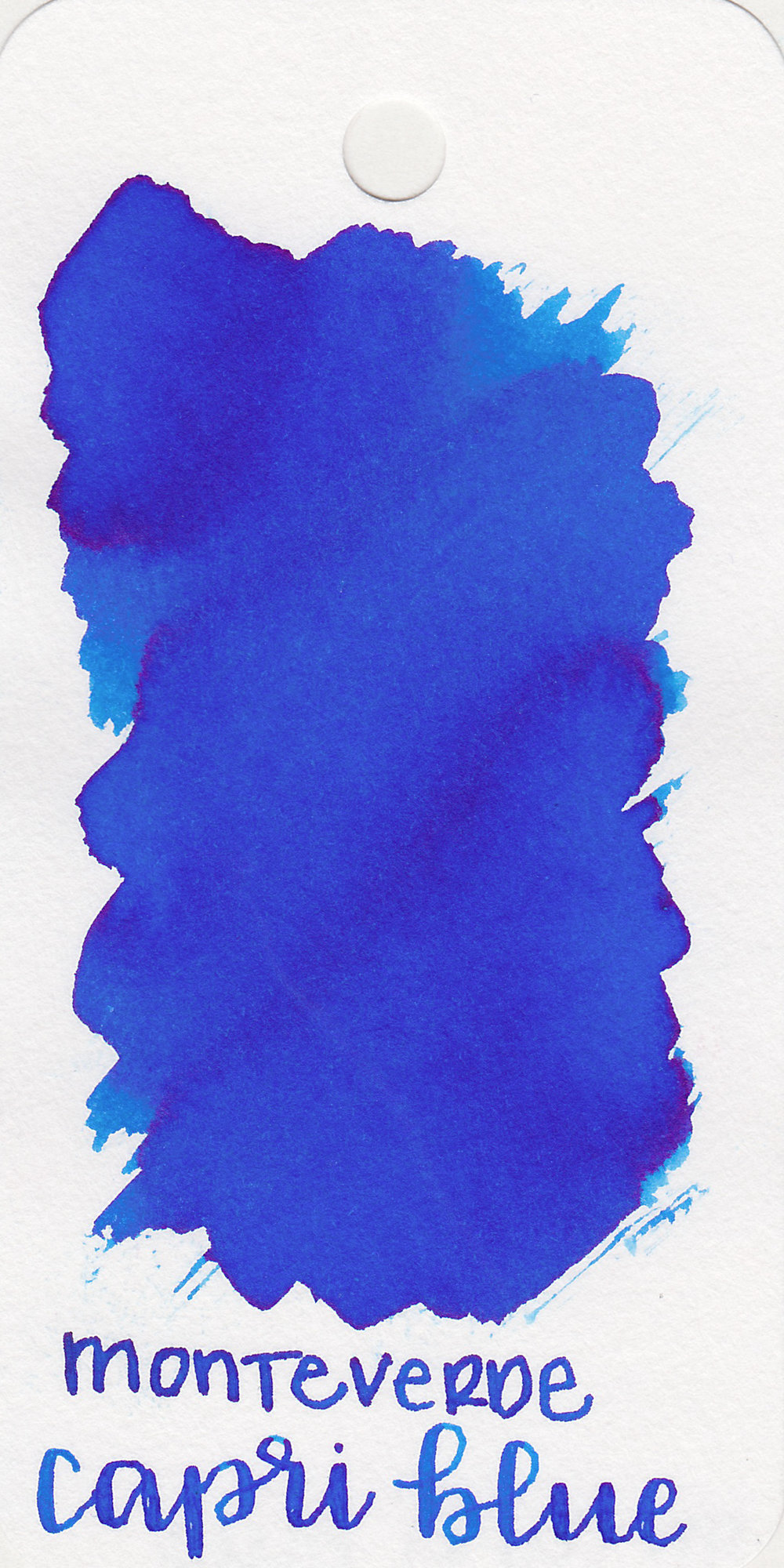 The color: - Capri Blue is a beautiful medium bright blue. It makes me think of the 4th of July.