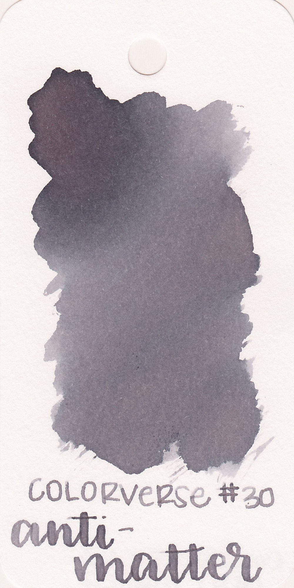 The color: - Anti-matter is a medium grey with almost a purple tone to it. It reminds me of Diamine Earl Grey.