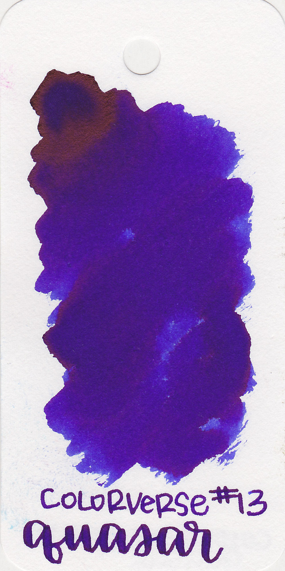 The color: - Quasar is a dark blue with a hint of purple in it.