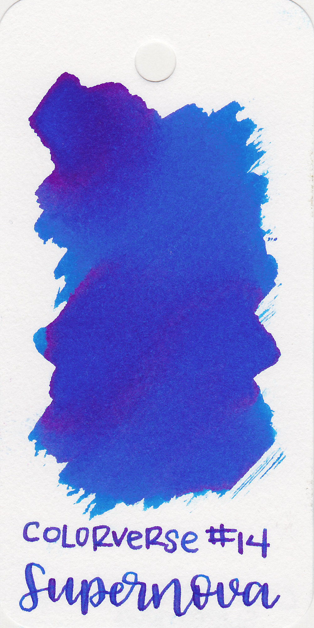 The color: - Supernova is a gorgeous summery blue with some pink sheen.