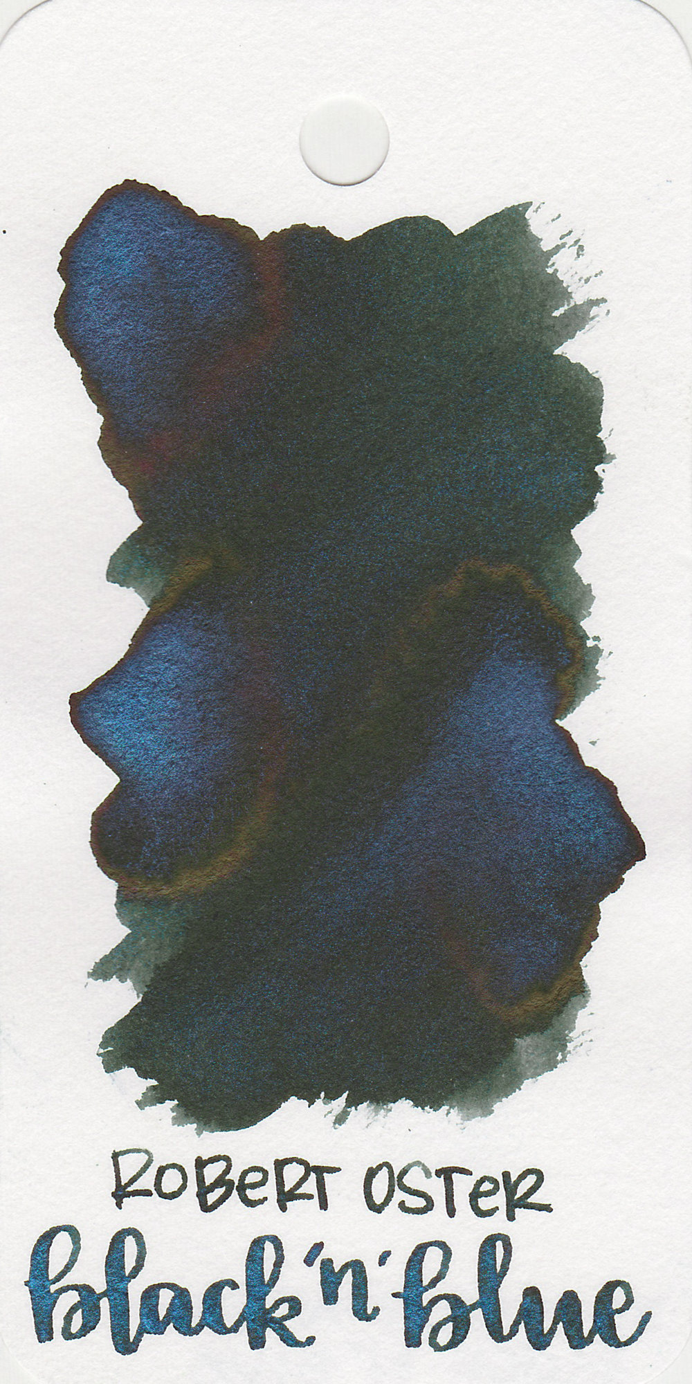 The color: - Black 'N' Blue is a dark green-black with bright blue shimmer.