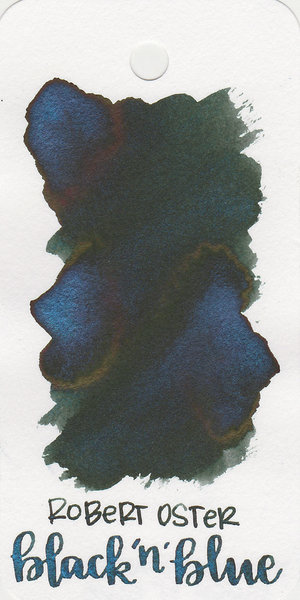 Swatch of blue-black Robert Oster Black And Blue