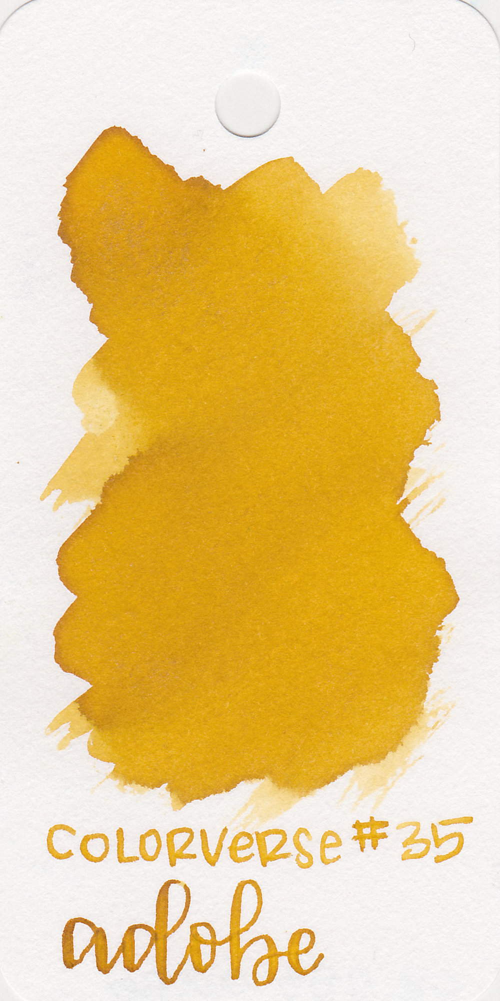The color: - Adobe is a really interesting dark yellow, almost a mustard yellow but not quite.
