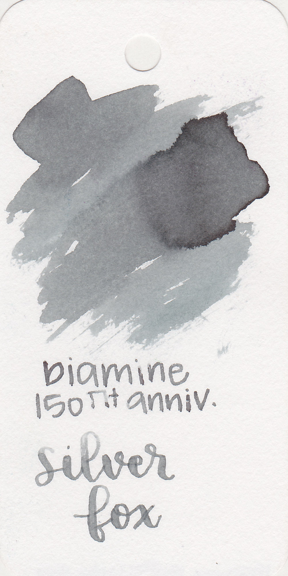DiamineSilver Fox - I love grey inks. Silver Fox is a beautiful, almost silver ink.