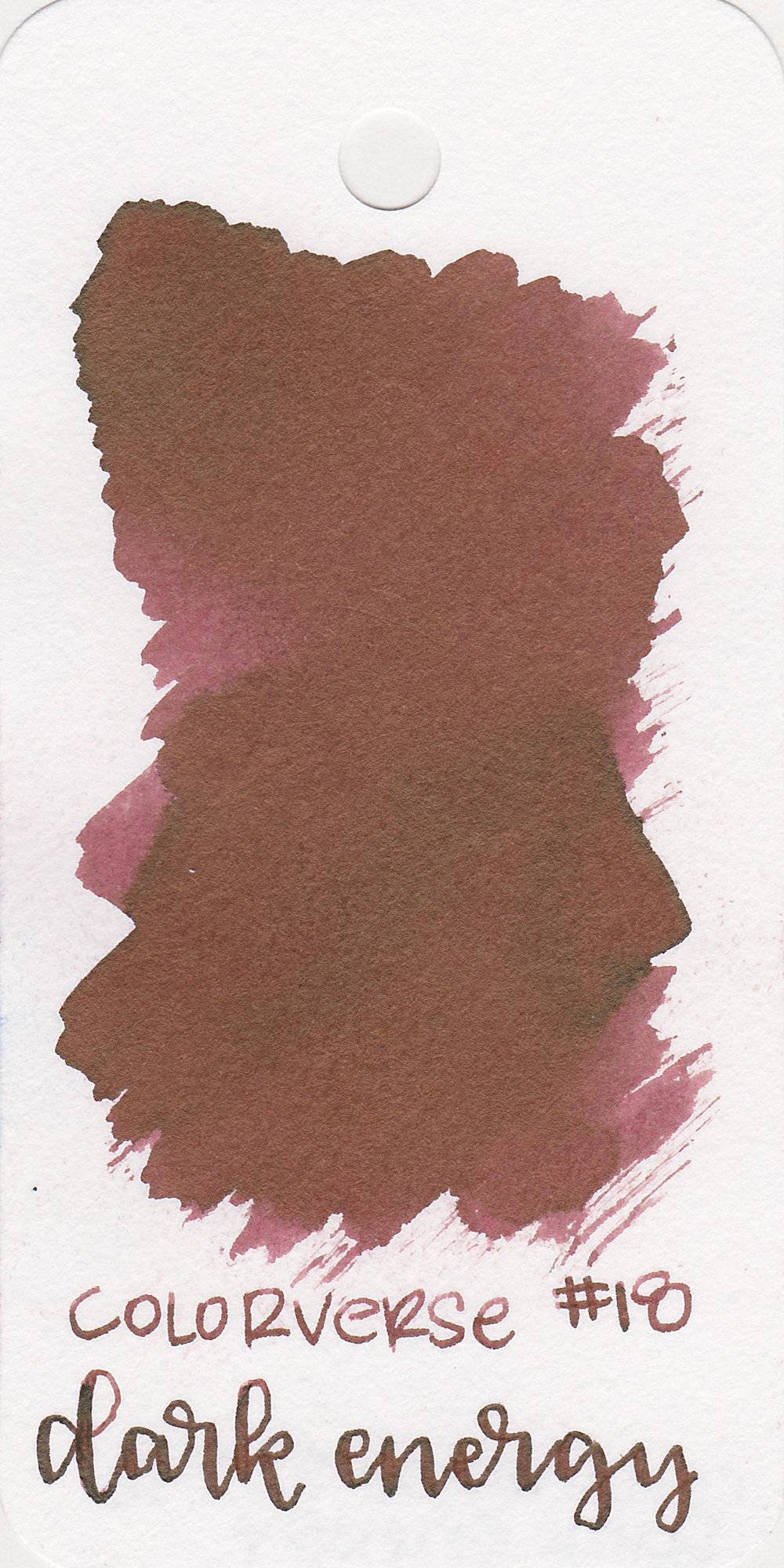 The color: - Dark Energy is somewhere between red and brown.