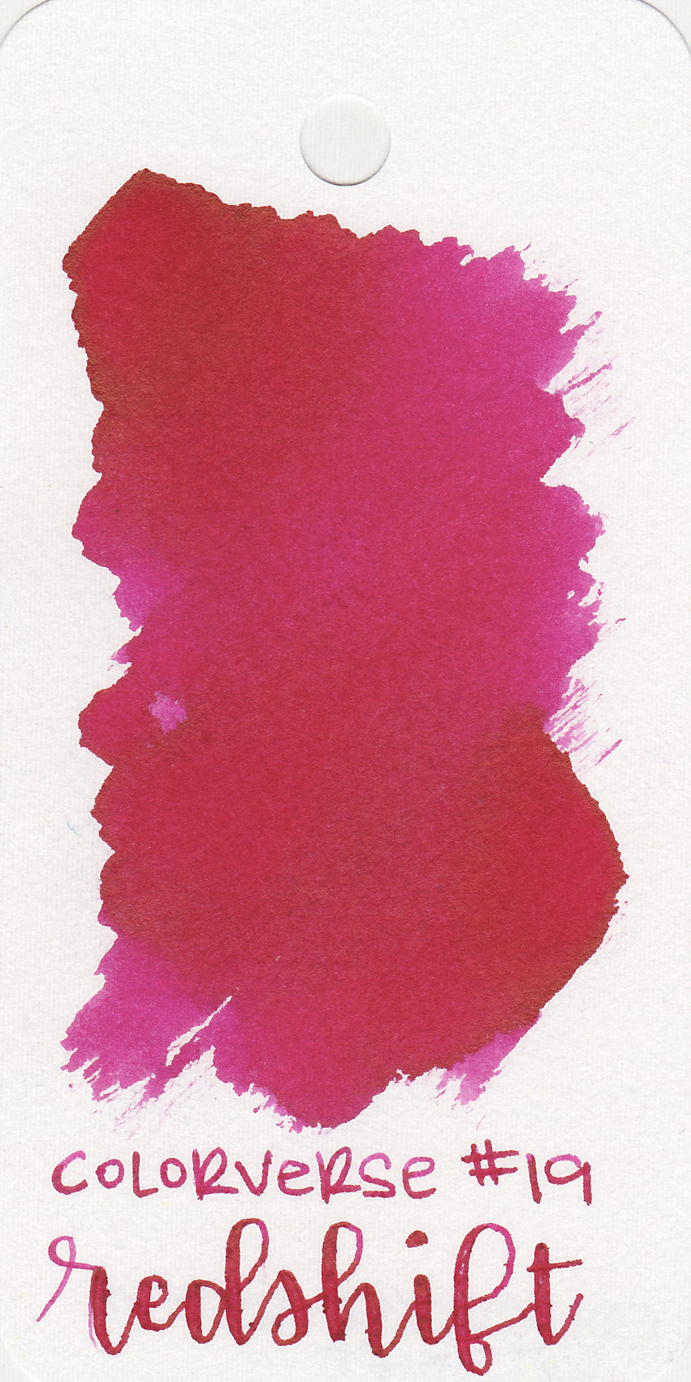 The color: - Redshift is a vibrant dark pink, not red like the name implies.