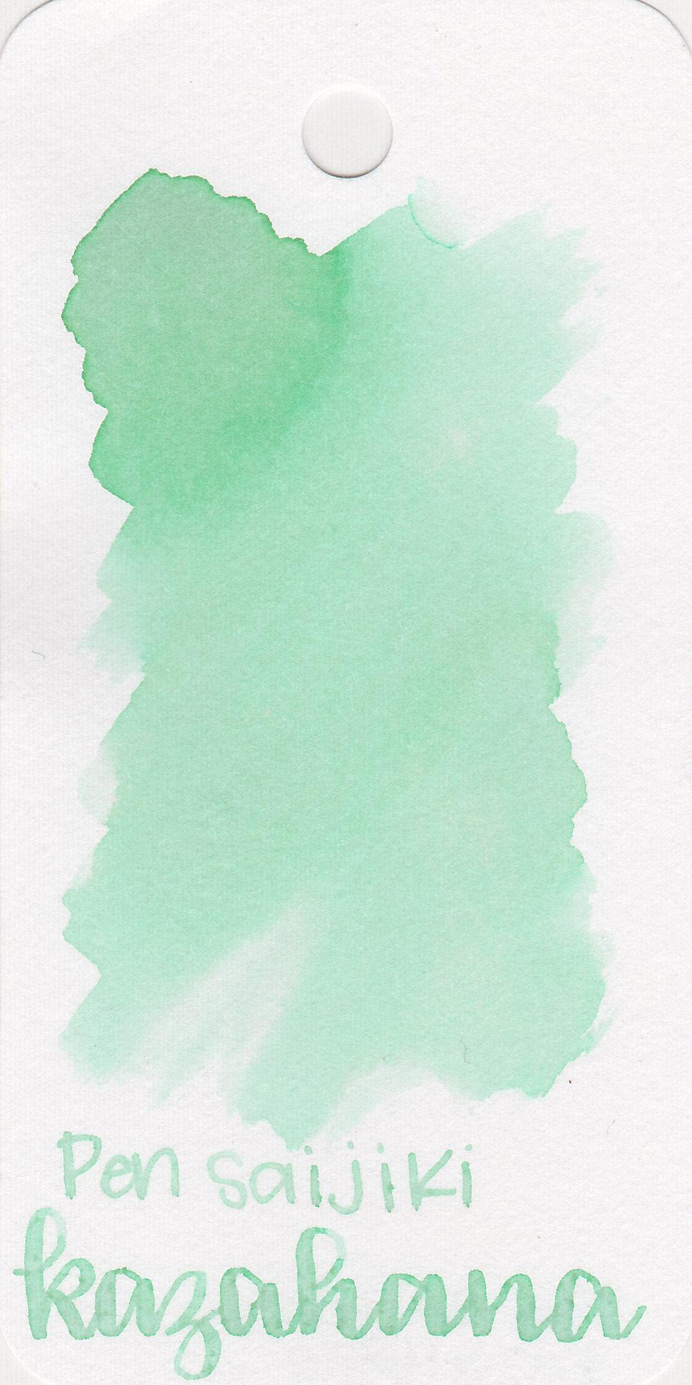 The color: - Kazahana is a very light mint green.