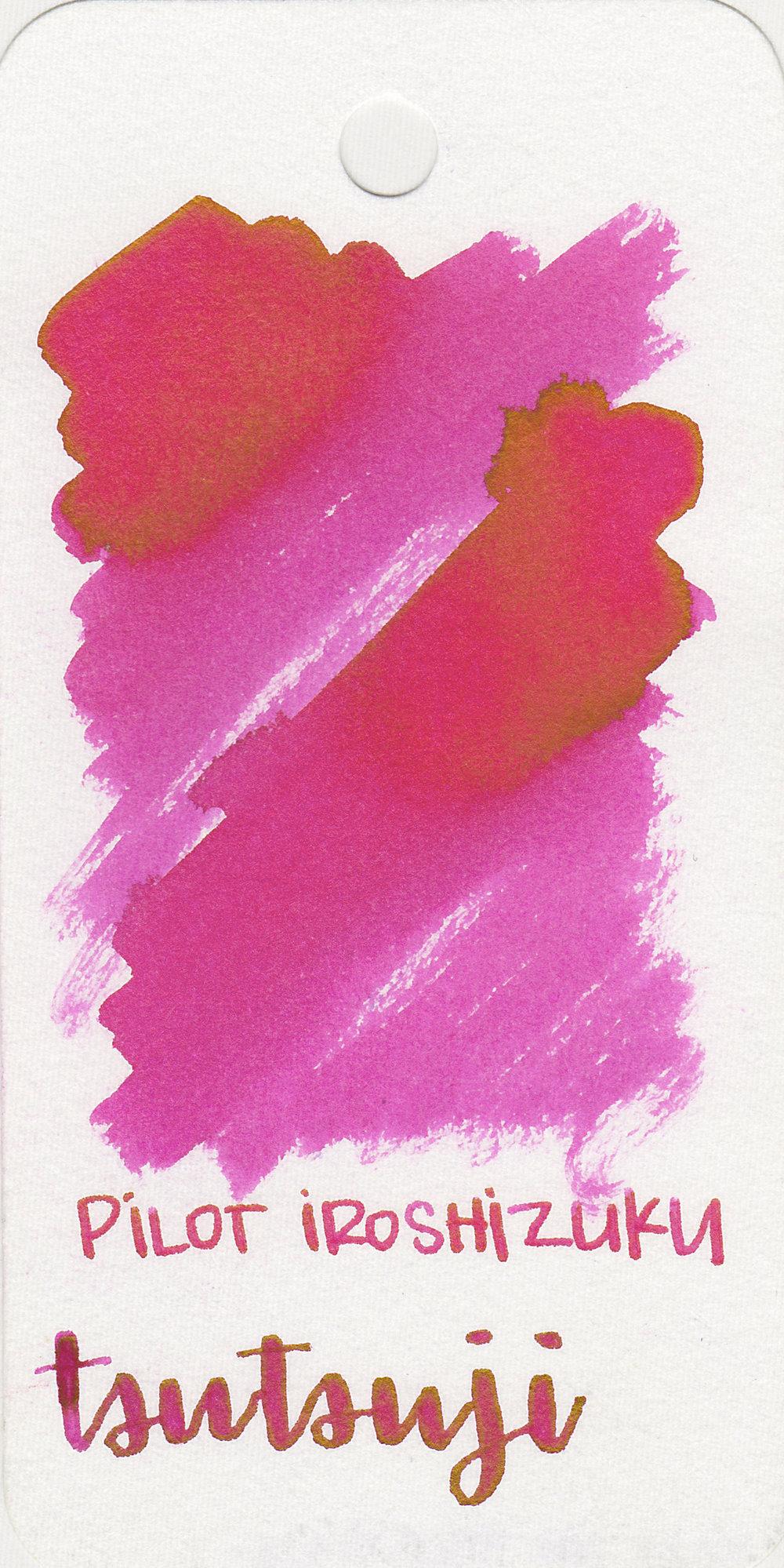 The color: - Tsutsuji is a bright, vibrant pink.