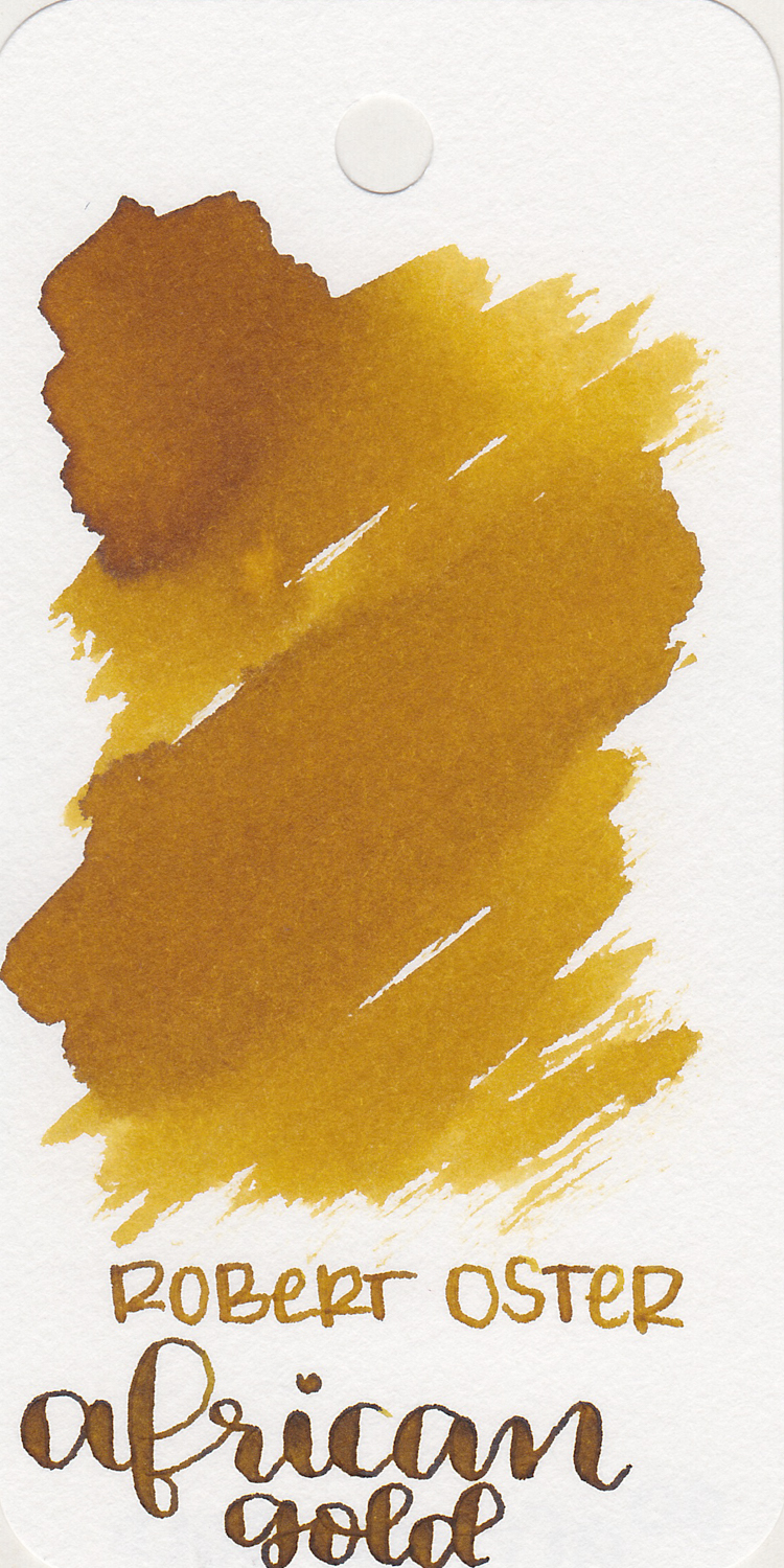 RO African Gold - I love this color for fall. It's hard to find good yellow inks, most of them are too light, but this one is almost a brown. Dark enough to see, but still yellow.