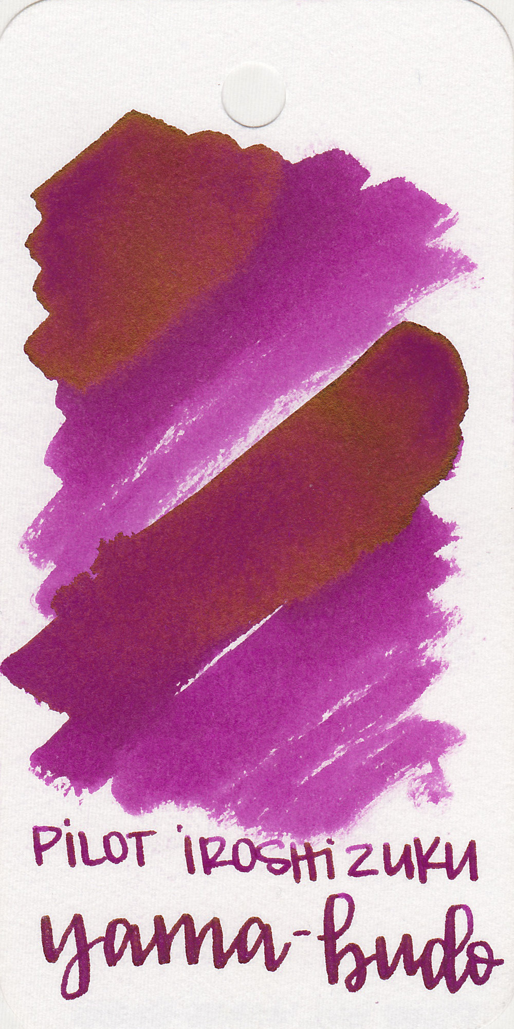 The color: - Yama-budo is a bright, fuchsia purple.