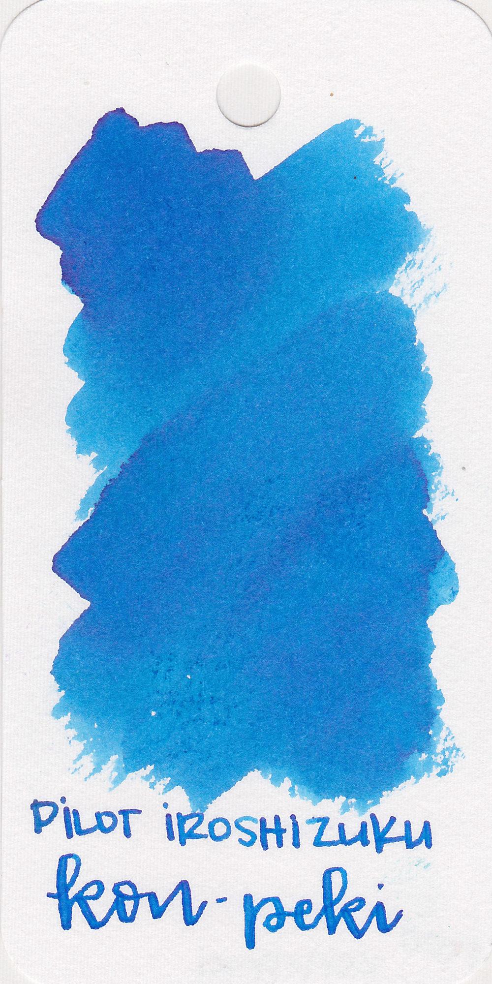 The color: - Kon-peki is a pretty medium blue.