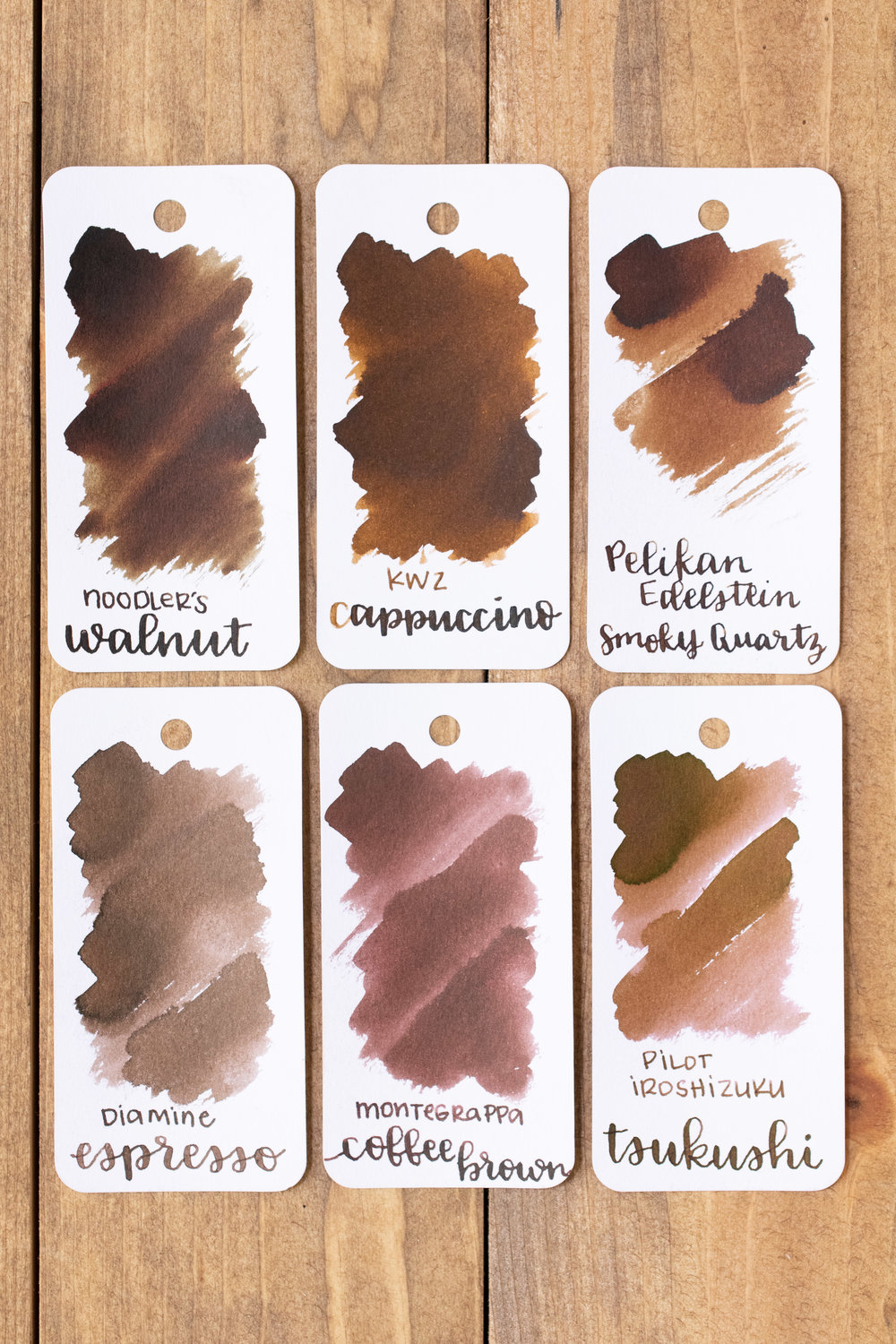 Similar inks: - Noodler's Walnut is a cooler and just a bit darker than Cappuccino.