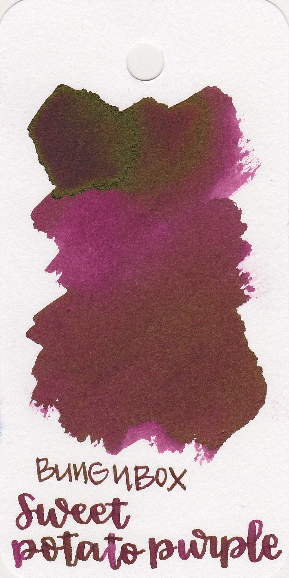 The color: - Sweet Potato Purple is a dark fuchsia purple.