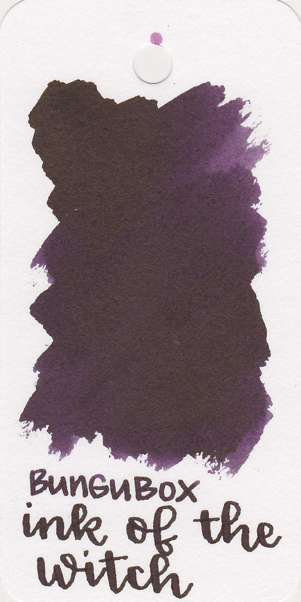 The color: - Ink of the Witch is a dark purple.
