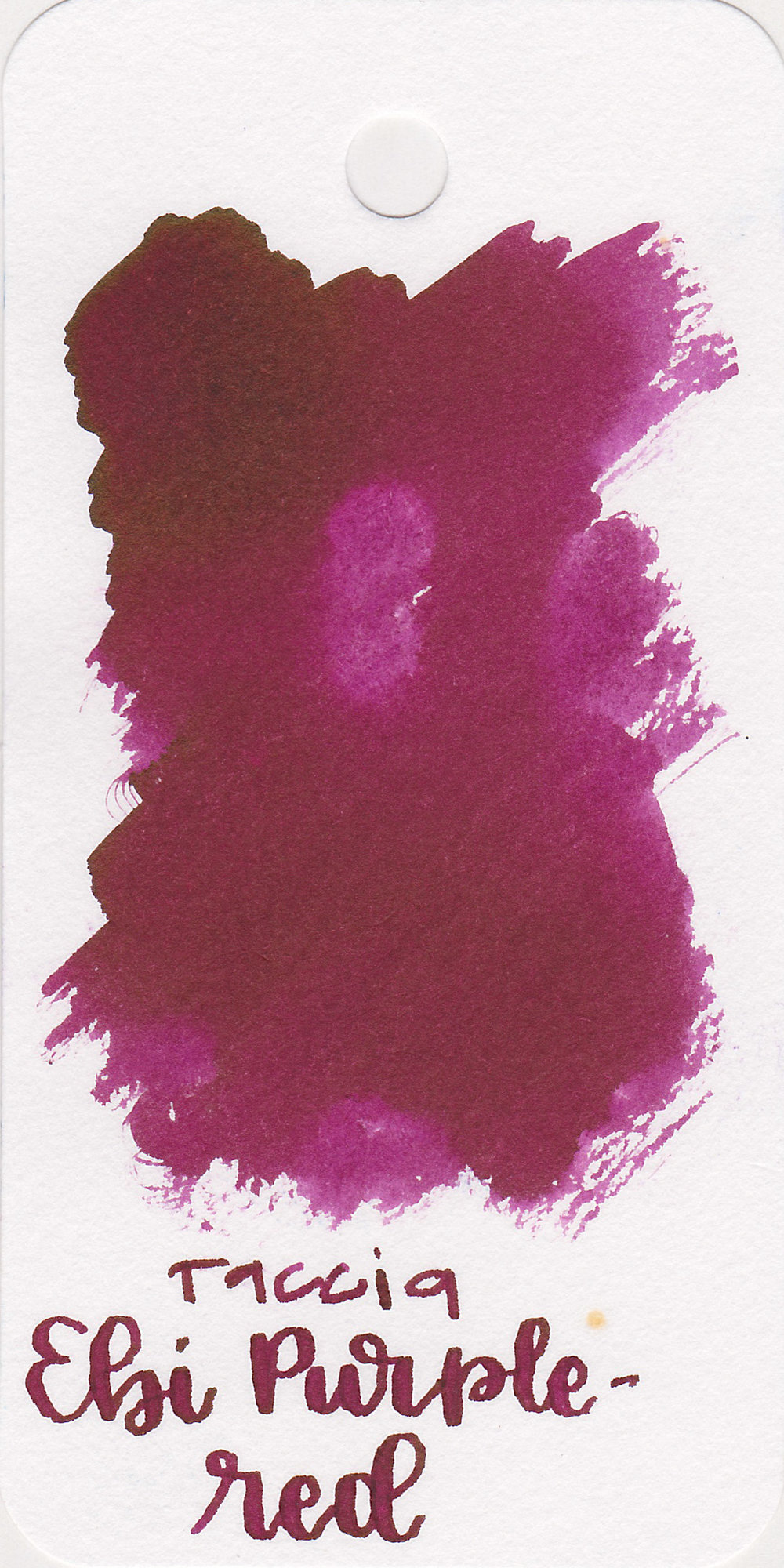 The color: - Ebi Purple-Red is a maroonish-purple.