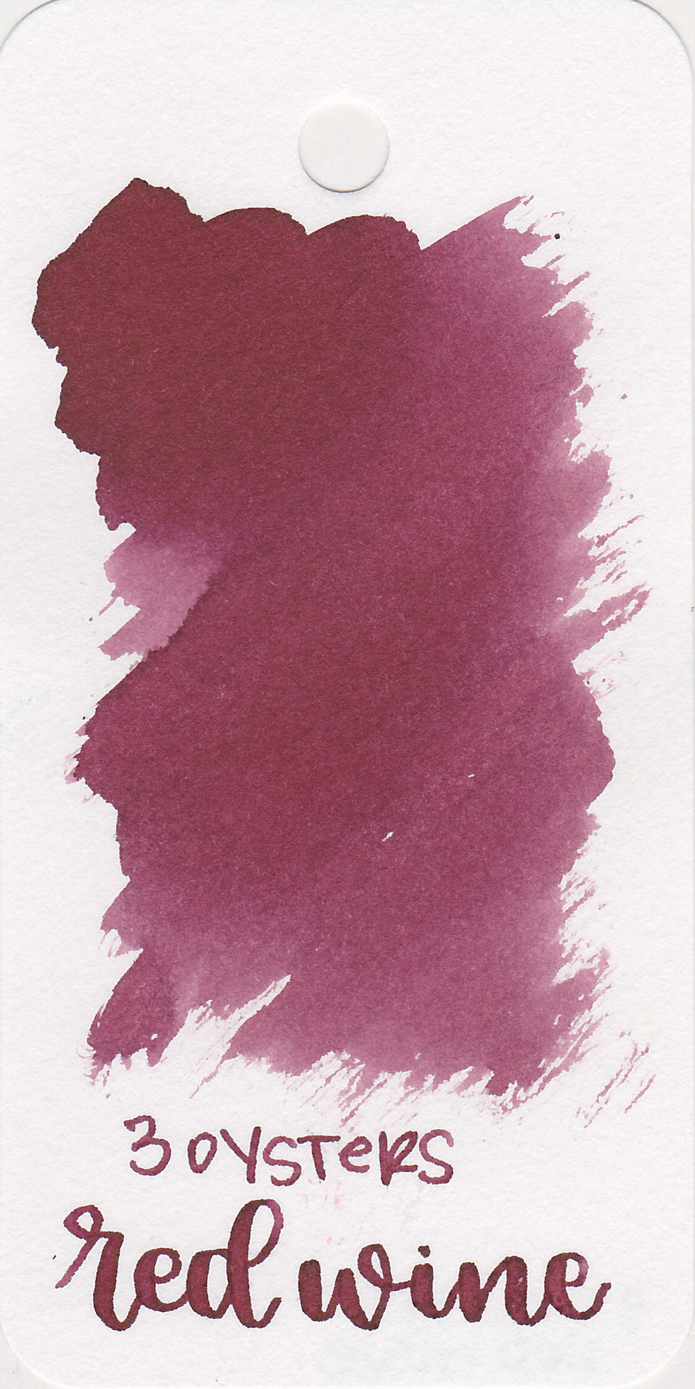 The color: - Red Wine is a dark but rather unsaturated maroonish-burgundy.