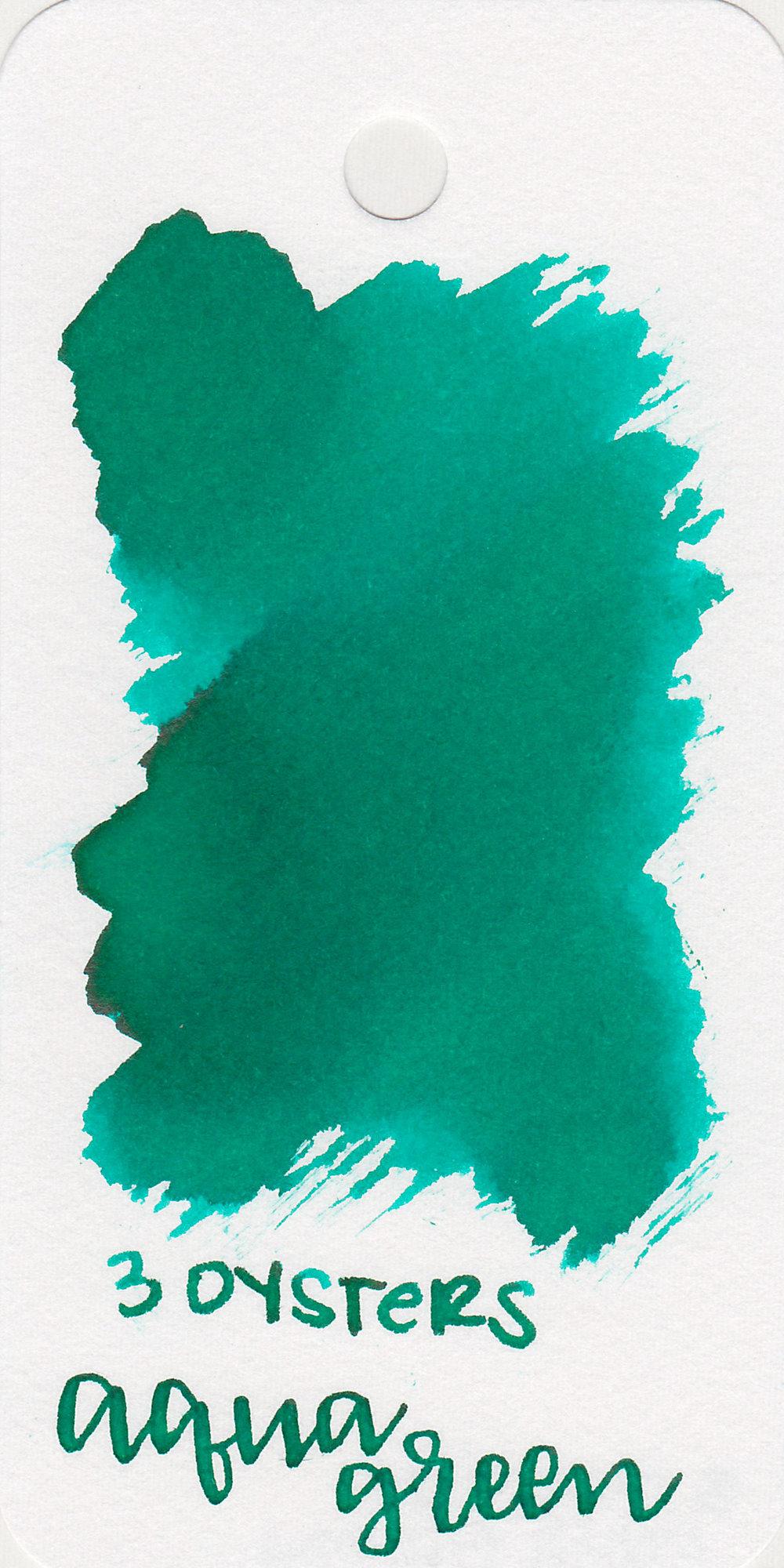 The color: - Aqua Green is a vibrant teal green.