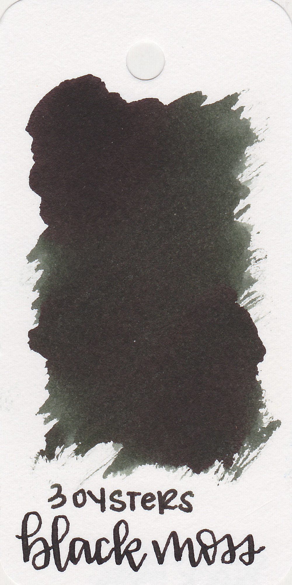 The color: - Black Moss is a dark green-black.