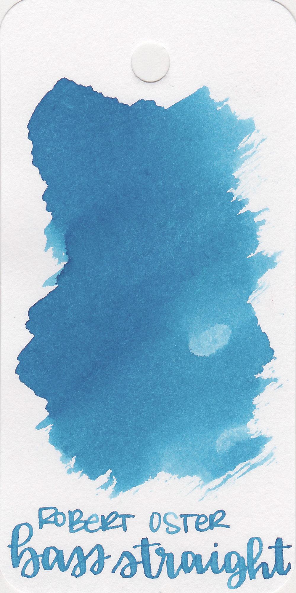 The color: - Bass Straight is a medium dusky blue.