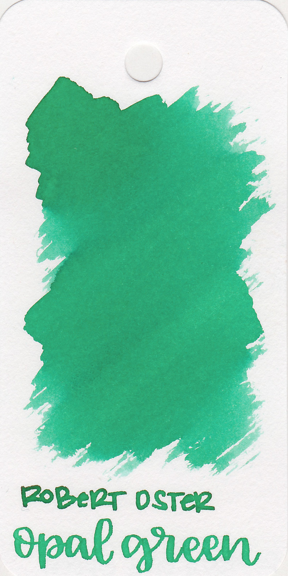 The color: - Opal Green is a medium, pastel green.