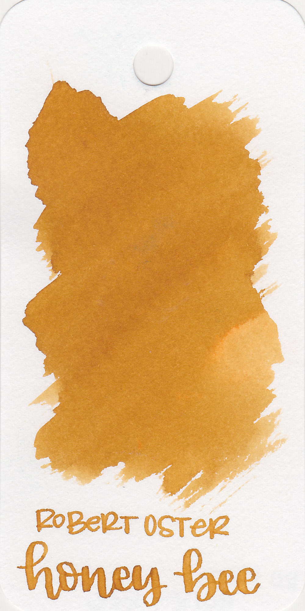 The color: - Honey Bee is a medium, mustard yellow. It's somewhere between yellow and brown, the color of honeycombs.