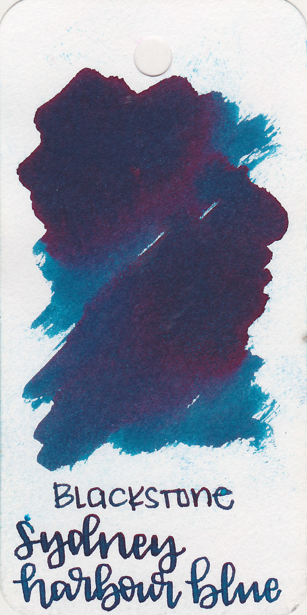The color: - Sydney Harbour Blue is a medium blue with a bit of green in it, not quite a teal but close.