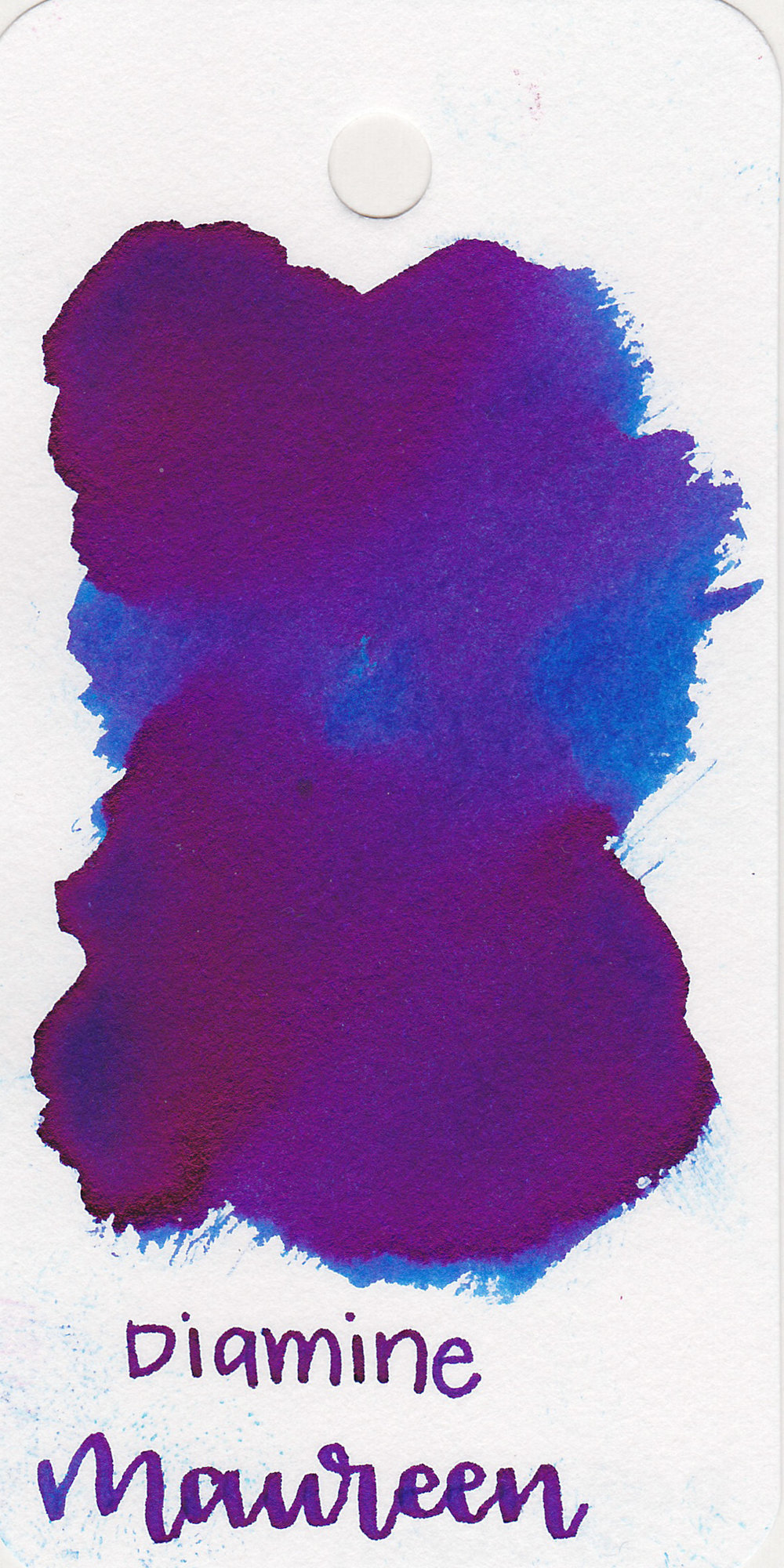 The color: - Maureen is a medium bright blue with a ton of dark pinkish/red sheen.