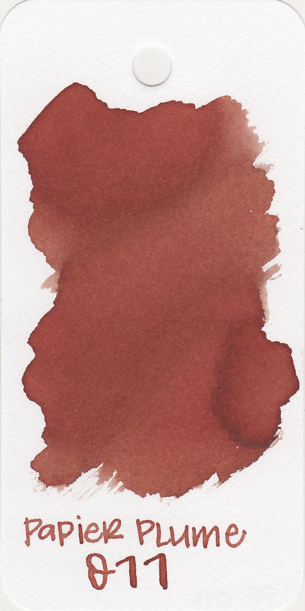 The color: - Eleven is a dark burnt orange.