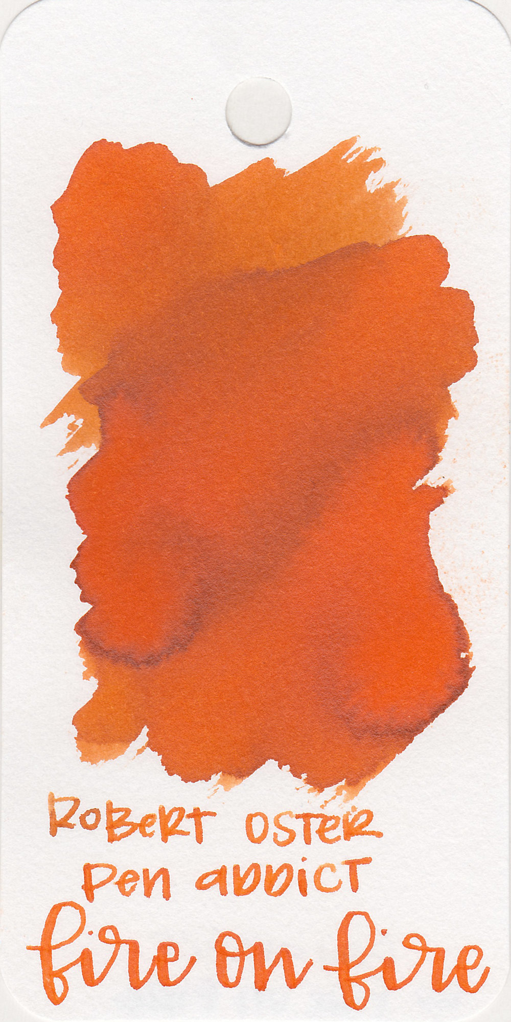 The color: - Fire on Fire is a bright, vibrant orange.