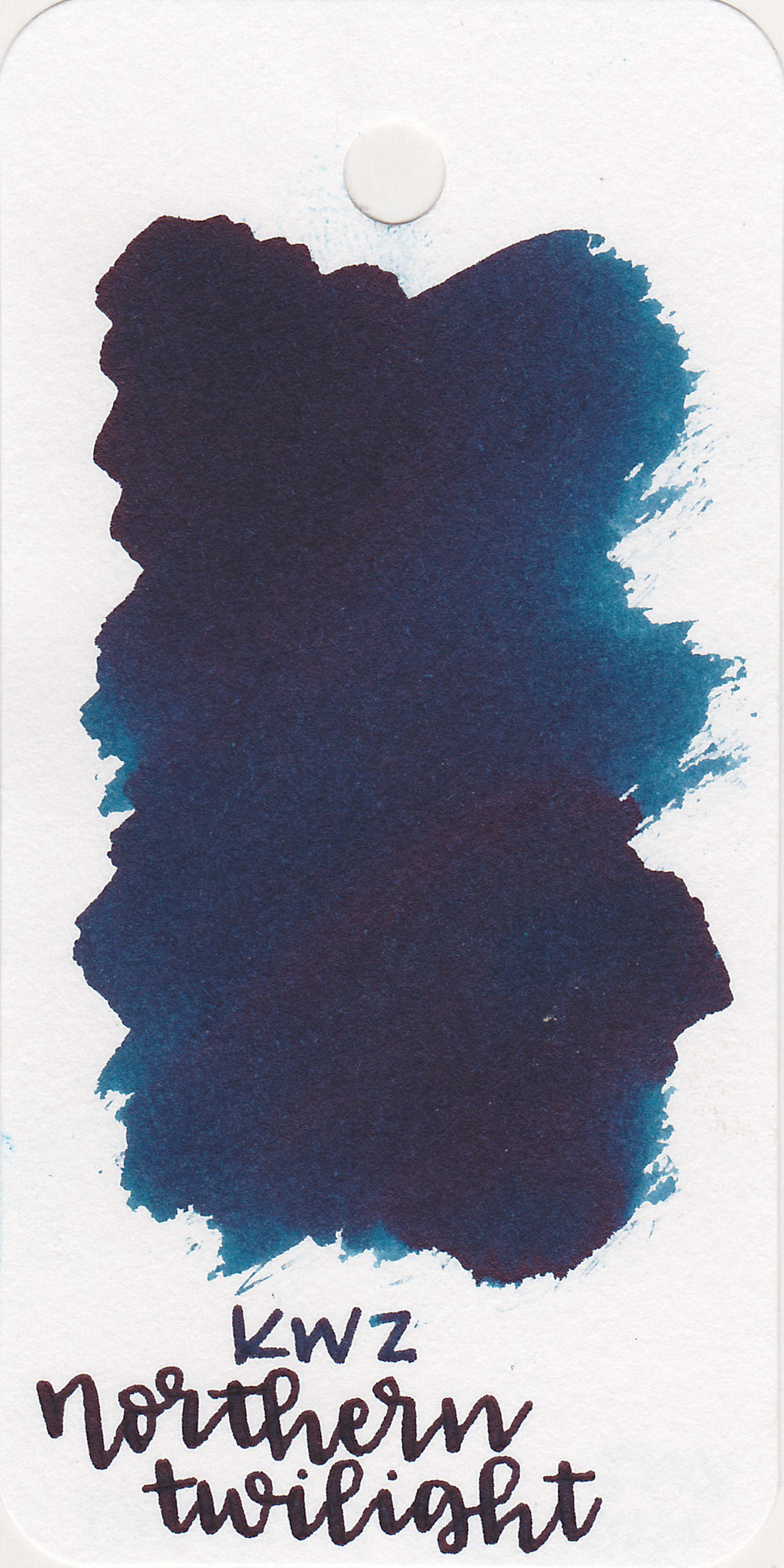 The color: - Northern Twilight is a dark blue with just a hint of green.